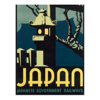 Carte Postale Chemins de fer japonais de gouvernement