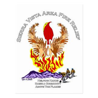 Carte Postale Chemise de soulagement du feu de forêt de