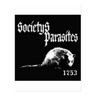 Carte Postale Chemise des parasites de la société
