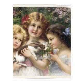 Carte Postale Chemise vintage de Pâques de ressort de Cecily