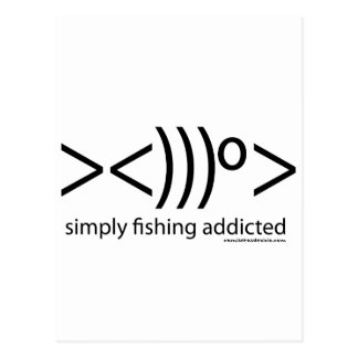 Carte Postale Chemisettes de Pêche : Simply fishing addicted
