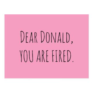Carte Postale Cher Donald, vous êtes mis le feu