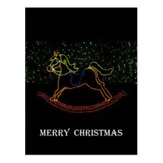Carte Postale Cheval de basculage de Noël 2016