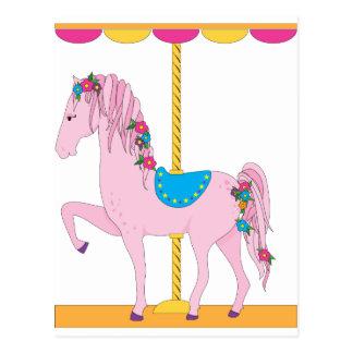 Carte Postale Cheval de carrousel