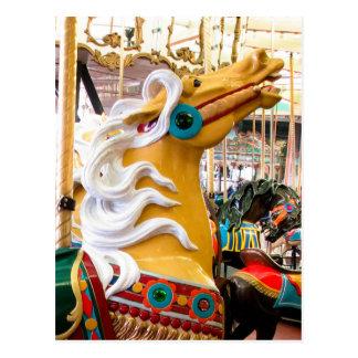 Carte Postale Cheval de carrousel de Looff de palomino