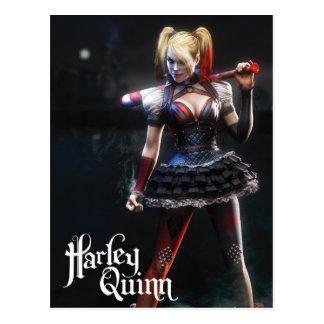 Carte Postale Chevalier de Batman Arkham | Harley Quinn avec la