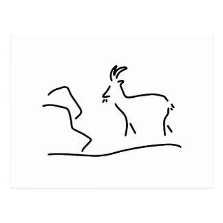 Carte Postale chèvre Capricorne