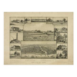 Carte Postale Chicago en quelques débuts 1779-1857