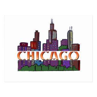 Carte Postale Chicago IL