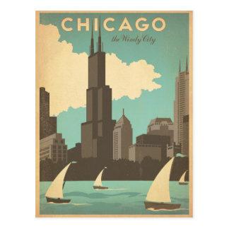 Carte Postale Chicago, IL - ville venteuse
