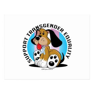 Carte Postale Chien d'égalité de transsexuel
