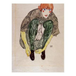 Carte Postale Chiffre de acroupissement d'Egon Schiele- (Valerie