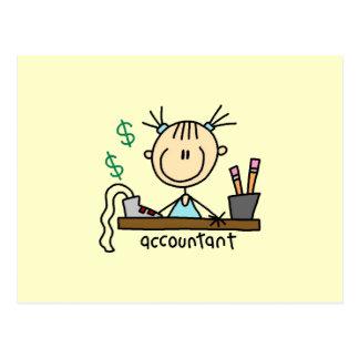 Carte Postale Chiffre de bâton de comptable