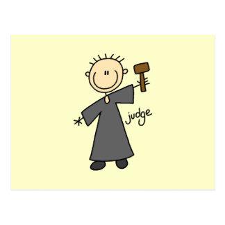 Carte Postale Chiffre de bâton de juge