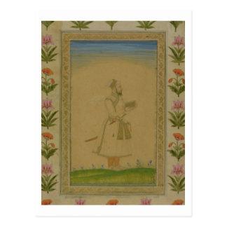 Carte Postale Chiffre debout d'un noble, participation un livre,