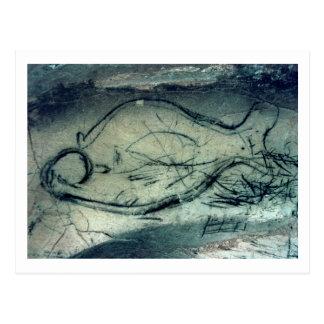 Carte Postale Chiffre marin, période paléolithique