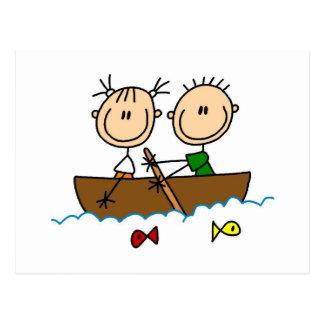 Carte Postale Chiffre T-shirts et cadeaux de bâton de pêche de