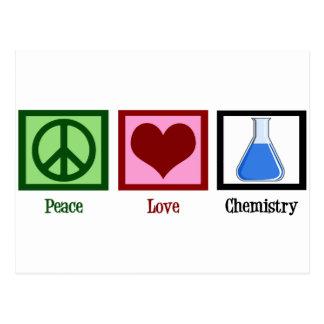 Carte Postale Chimie d'amour de paix