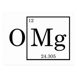 Carte Postale Chimie de la Science de magnésium d'OMG