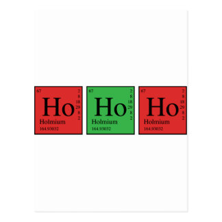 Carte Postale Chimie de Noël