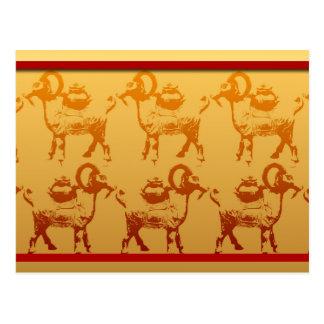 Carte postale chinoise de nouvelle année de