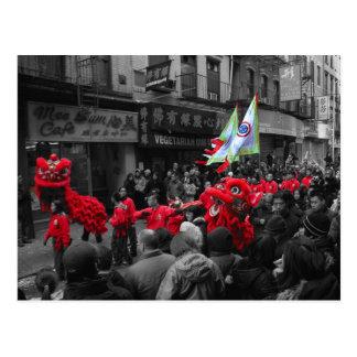 Carte postale chinoise du défilé NY de nouvelle