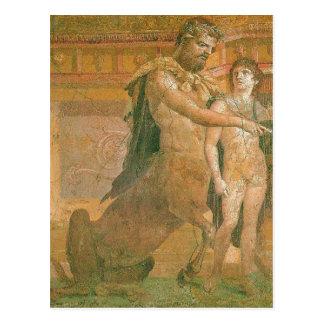 Carte Postale Chiron récapitulatif instruit jeune Achille exp