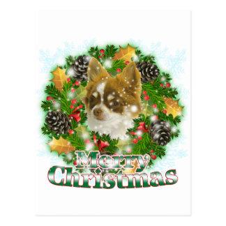 Carte Postale Chiwawa de Joyeux Noël