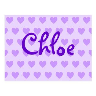 Carte Postale Chloe dans le pourpre