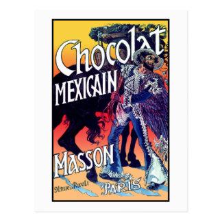 Carte Postale Chocolat Mexicain par Grasset