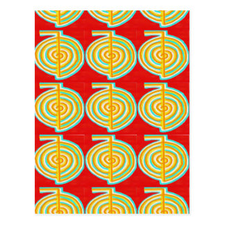Carte Postale CHOKURAY : Symbole curatif de Reiki de RAYON de
