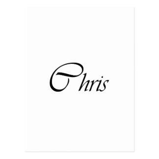 Carte Postale Chris