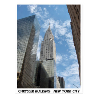 Carte Postale Chrysler construisant New York City