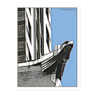 Carte Postale Chrysler construisant, NYC