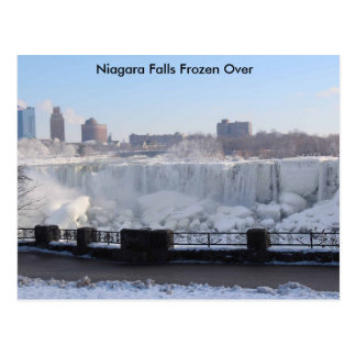 Carte Postale Chutes du Niagara congelées plus de