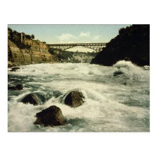 Carte Postale Chutes du Niagara New York 1898 de rapide de