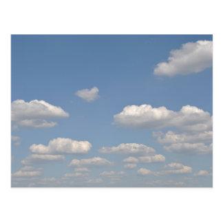 Carte Postale Ciel bleu avec des nuages