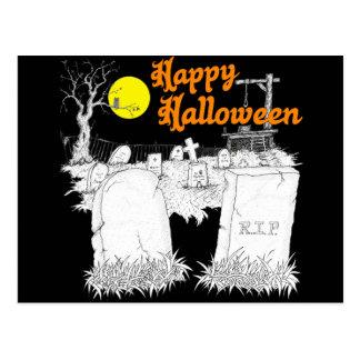 Carte Postale cimetière de Halloween