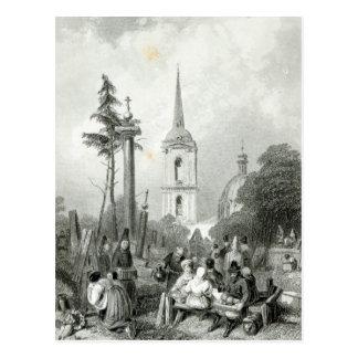 Carte Postale Cimetière de l'église de Smolensko
