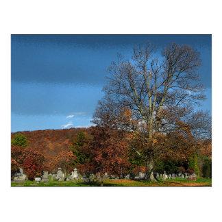 Carte Postale Cimetière en automne