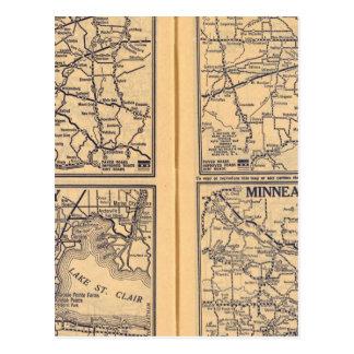 Carte Postale Cincinnati, Detroit, Indianapolis