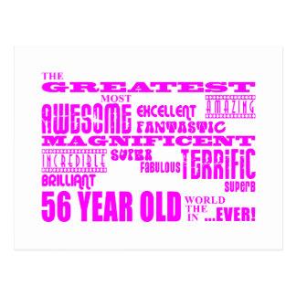 Carte Postale Cinquante-sixième anniversaires plus grand