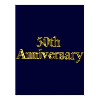 Carte Postale cinquantième Cadeaux d'anniversaire de mariage