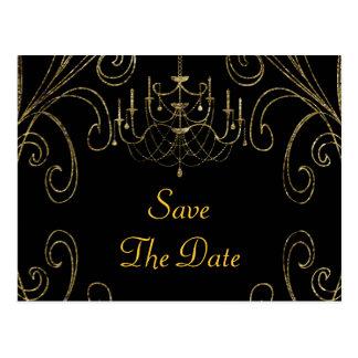 Carte Postale cinquantième Lustre d'anniversaire de mariage d'or
