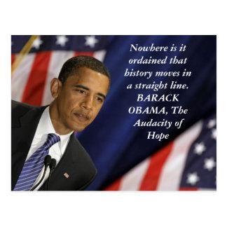 Carte Postale Citation de Barack Obama sur l'histoire