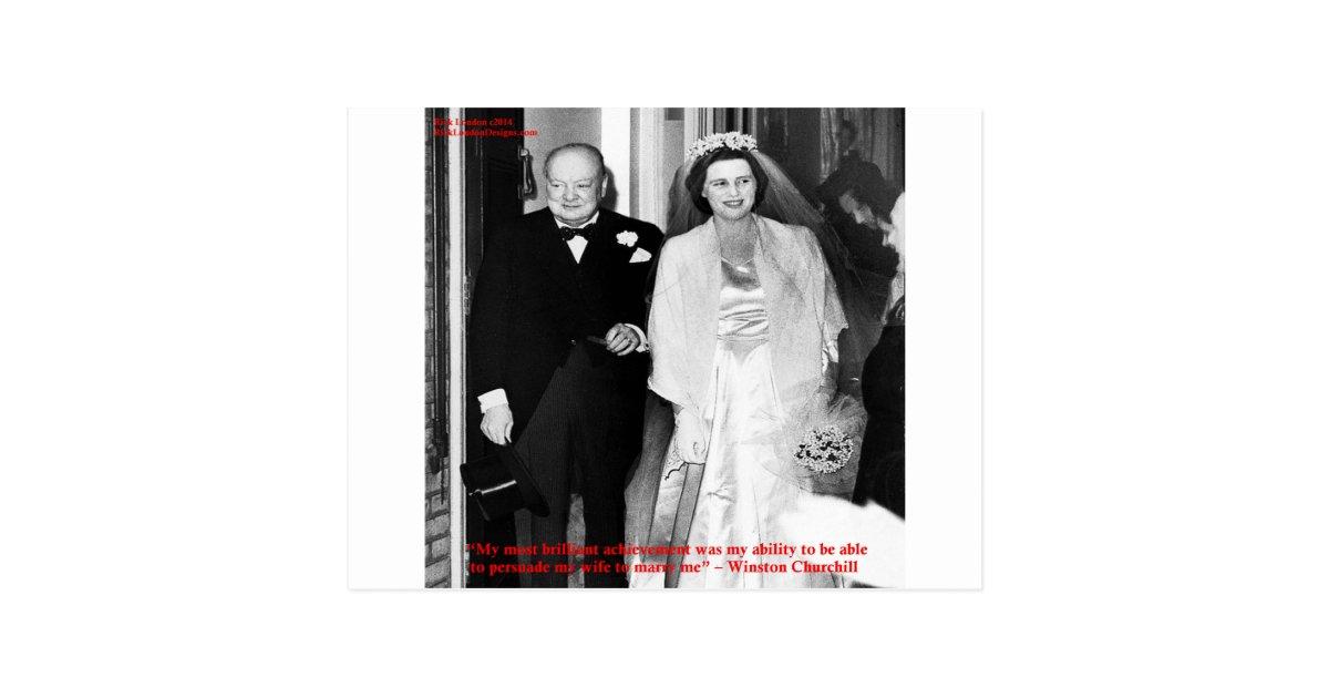 Carte Postale Citation De Churchill Et Du Celebre Mariage Zazzle Be
