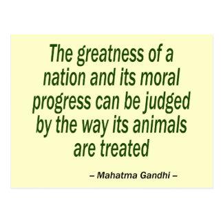 Carte Postale Citation de Mahatma Gandhi