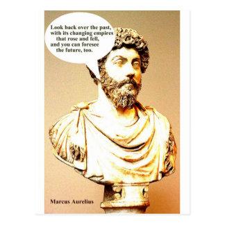Carte Postale Citation de MARCUS AURELIUS ; Regardez en arrière