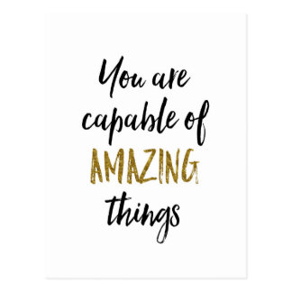 Carte Postale Citation de motivation de choses extraordinaires