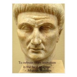 Carte Postale Citation de motivation de Marcus Aurelius au sujet